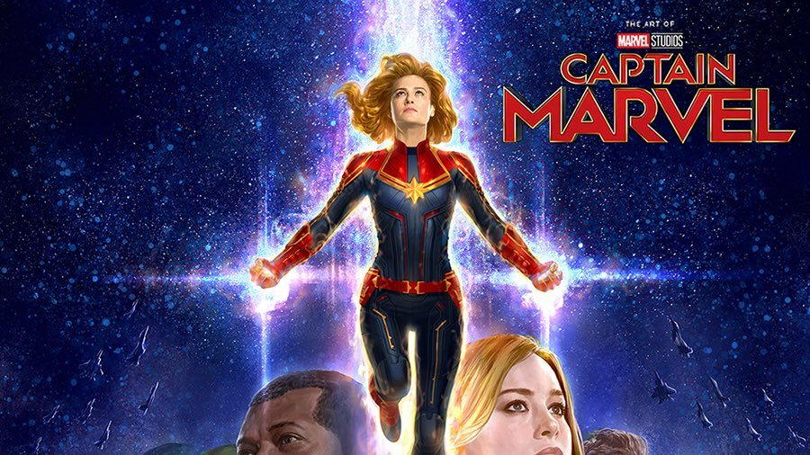 2b9d51a67b The Art of  Captain Marvel  Book Cover Released and It s Gorgeous ...
