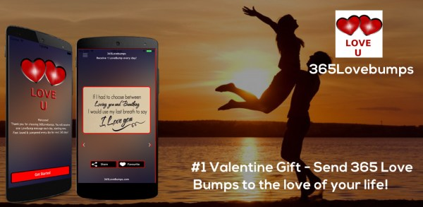 365LoveBumps – #1 Valentine/Anniversary gift – feel loved everyday of the year!
