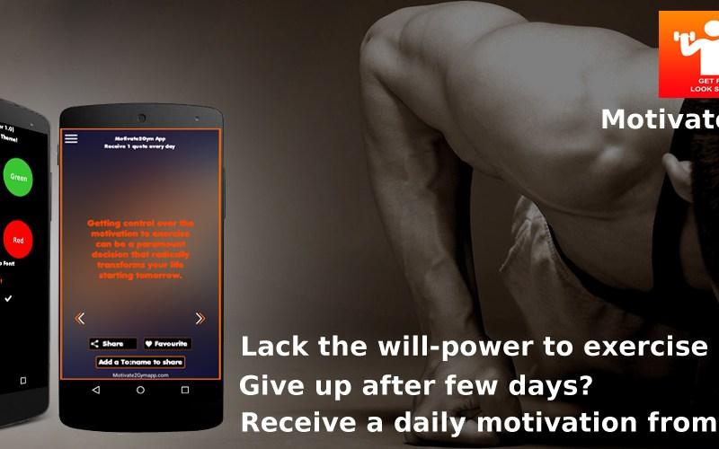 motivate2gym gym motivator