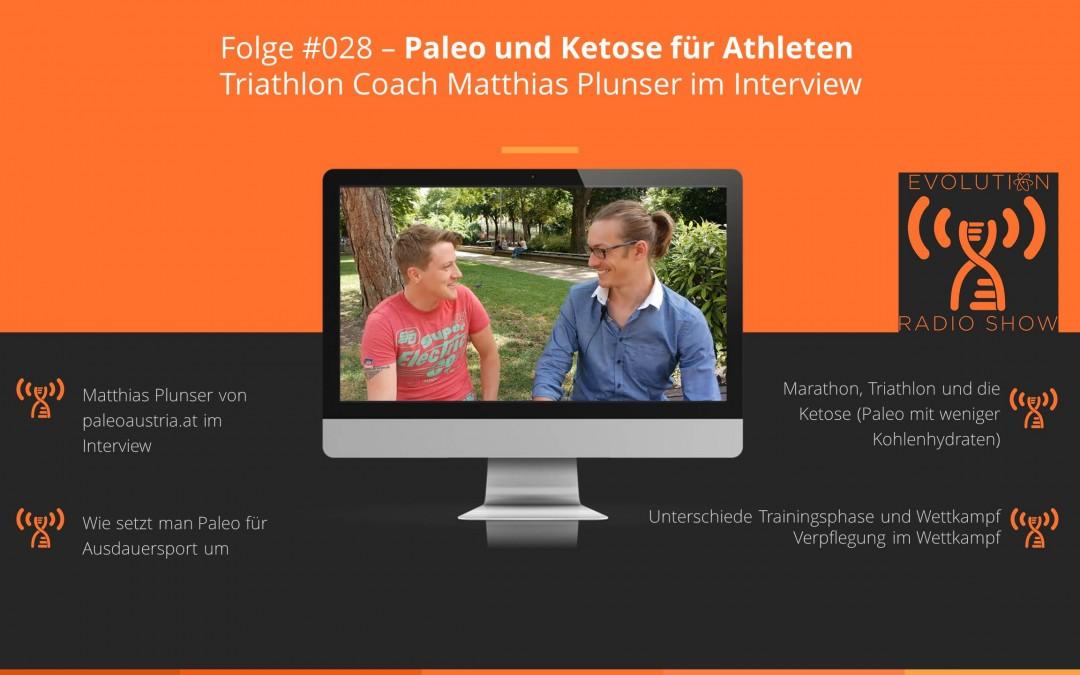 Evolution Radio Show Folge #028 – Paleo und Ketose für Athleten | Triathlon Coach Matthias Plunser im Interview