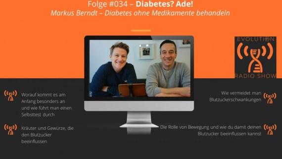 Evolution Radio Show Folge #34: Dein Diabetes mit der richtigen Ernährung heilen, geht das?
