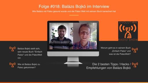 """Evolution Radio Show Folge #018: Wie Balázs Bojkó mit Paleo gesund wurde und alles über sein Buch """"Einfach Paleo"""" und die PaleoWelt.de"""