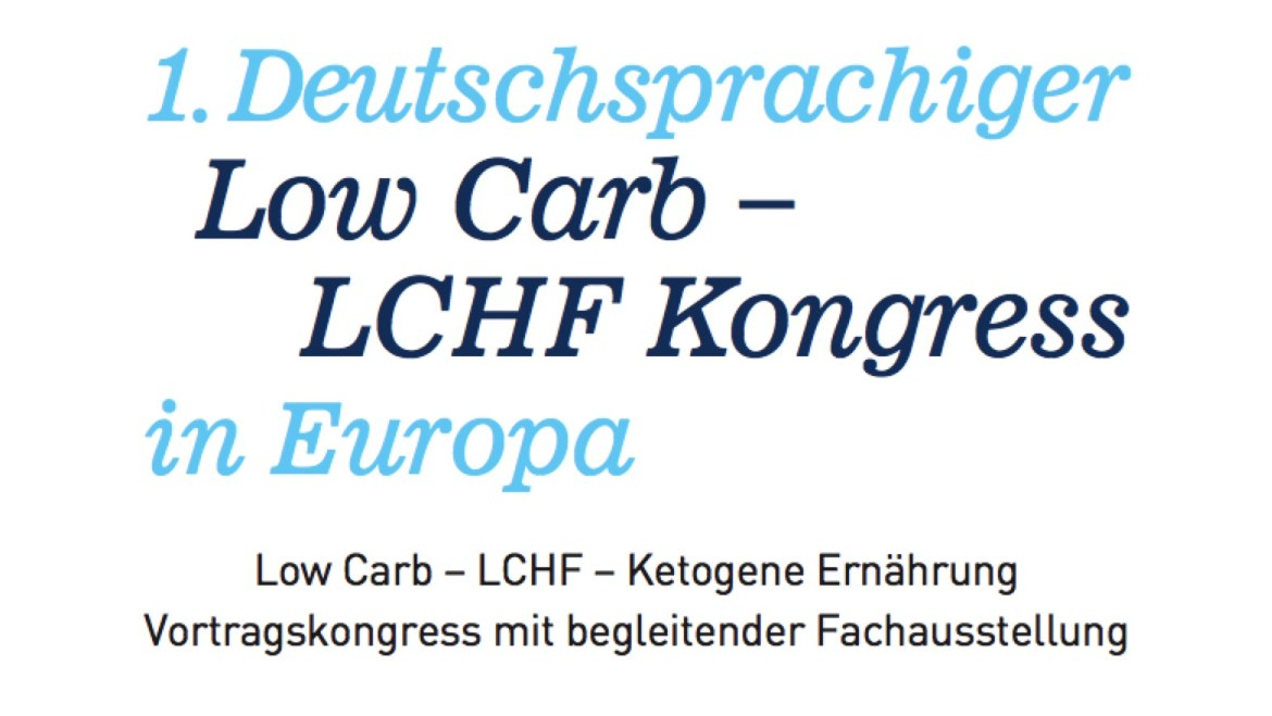 1. LCHF Kongress in Deutschland am 11. Februar 2017
