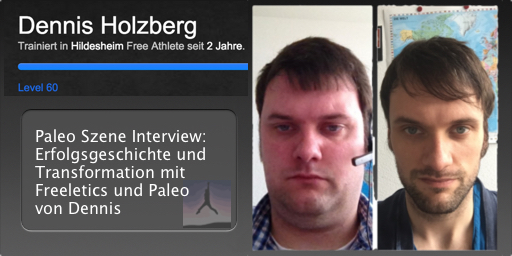 Transformation von Dennis Holzberg - Freeletics Paleo Free Athlete