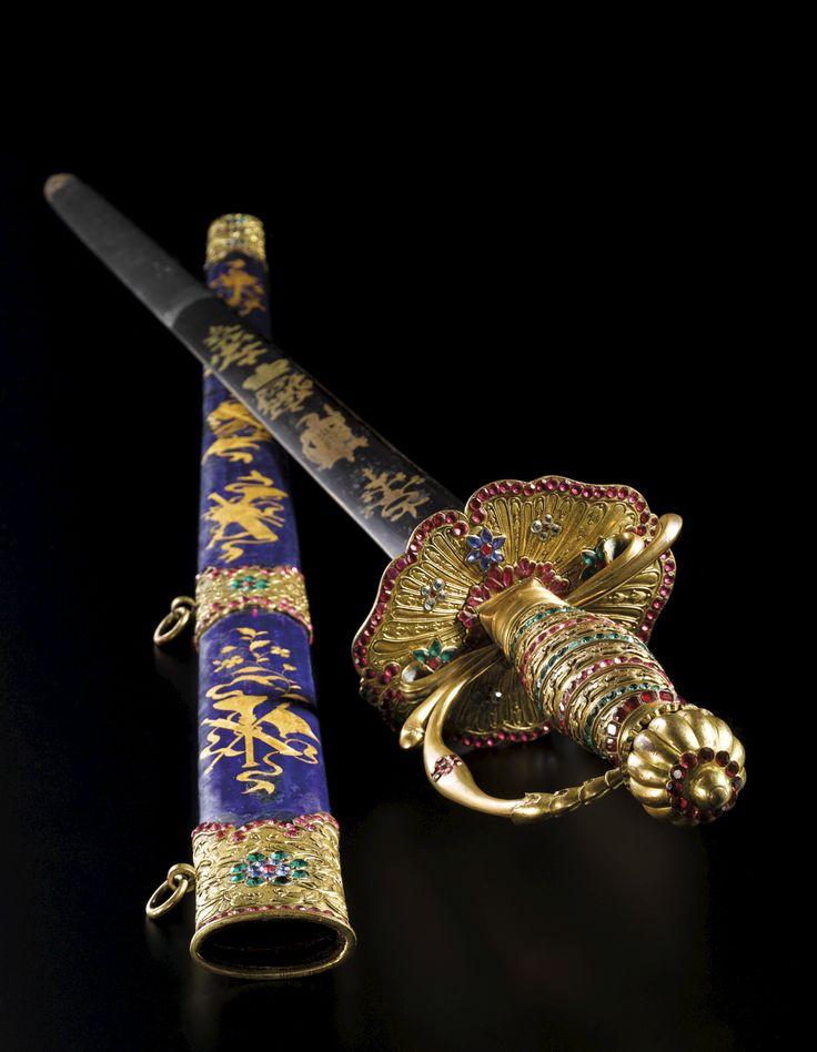 Qing hanedanından çin kılıcı