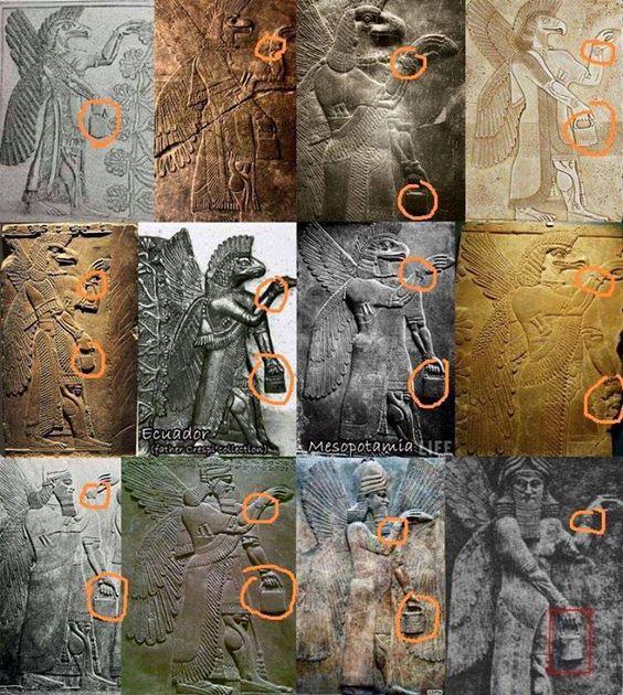 Bu resimler farklı dönemlerde ve Dünya'nın birbirinden çok uzakta bulunan yerlerinden heykel ve kabartma resimleri.