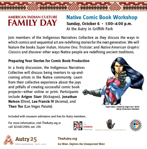 Natives in Comics at the Autry in LA