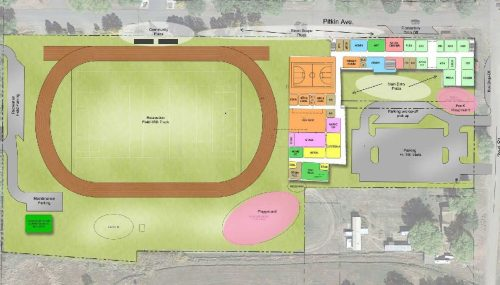 New School Site Plan at Mountain Valley