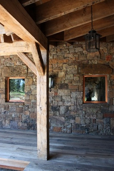 Exterior Hand Hewn Beams for Historical Character