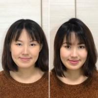 ビフォーアフター 顔タイプ診断 骨格診断 顔分析メイク