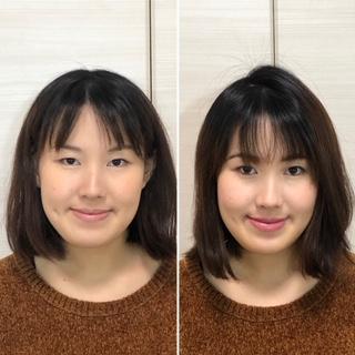 ビフォーアフター 顔タイプ診断 顔分析フルメイク トータル診断フルコース