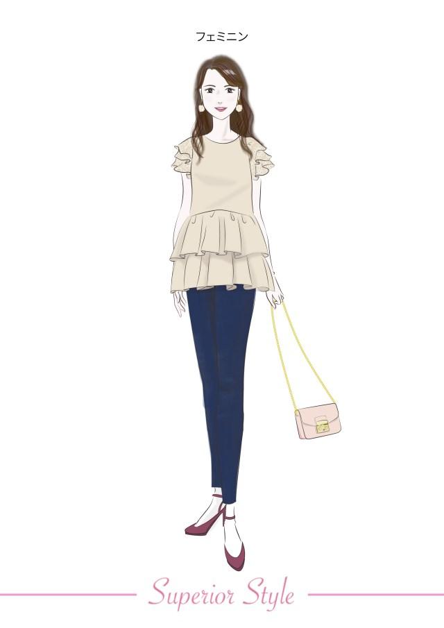顔タイプ診断 フェミニン 似合う服 似合うファッション 町田 東京 神奈川