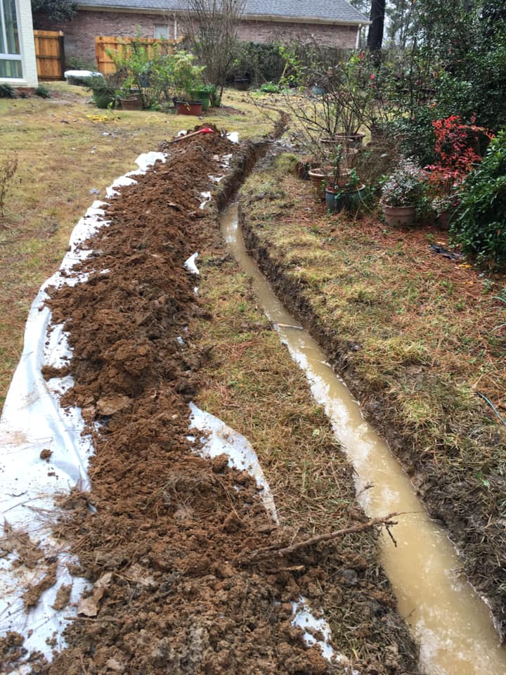 French Drain Contractor Jackson Madison Brandon Mississippi