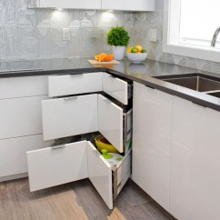 Kitchen Lazy Susan Space Saver Table 5 Alternatives Superior Cabinets A Close Up Picture Of Corner 3 Drawer Bank Cabinet Ultra Modern Two