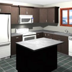 Kitchen Cost Wallpaper Borders For Kitchens What Does An Average Superior Cabinets Rendering Of L Shaped With Island 5 000 And Under In