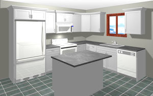 kitchen cabinet cost marble countertops what does an average superior cabinets rendering of l shaped with island 5 000 and under in