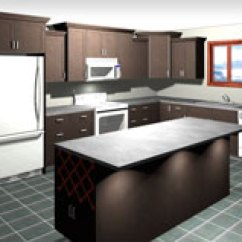 Kitchen Cost Sink Rack What Does An Average Superior Cabinets Rendering Of L Shaped With Island 5 000 10 And