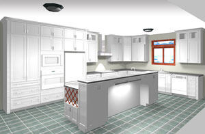 kitchen cabinet cost home depot ceiling lights what does an average superior cabinets rendering of l shaped with island 15 000 20 and
