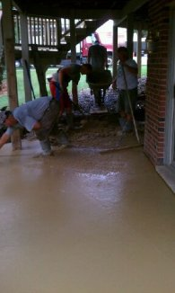 Stamped concrete Walkout 1