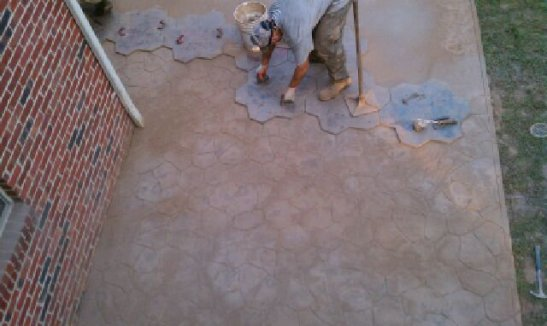 Stamped concrete Walkout 3