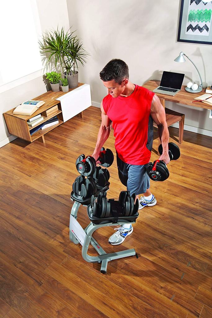 Superior Digital News - Bowflex SelectTech 552 Adjustable Dumbbells - Space saving Rack