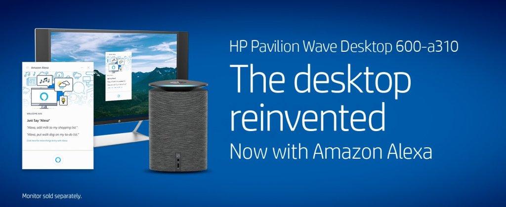 HP Pavilion Wave Compact Desktop Computer with Amazon Alexa