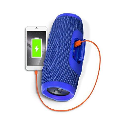 JBL Charge 3 Portable Bluetooth Speaker (Blue Charging) | Superior Digital News