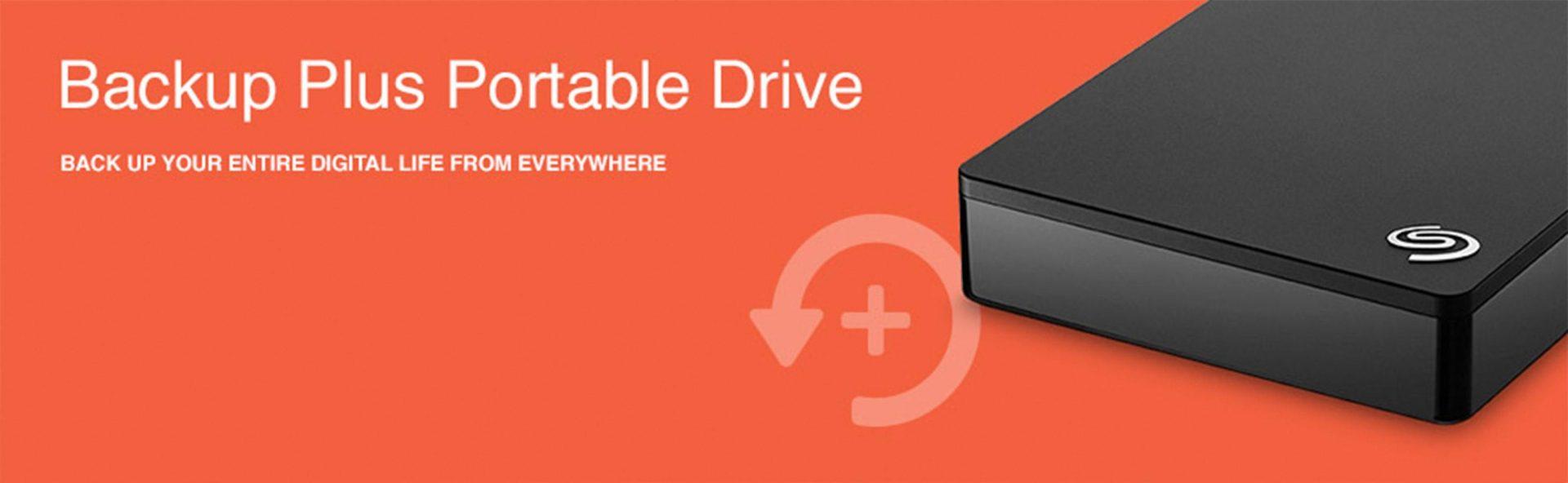 Seagate Backup Plus 5TB Portable External Hard Drive USB 3.0