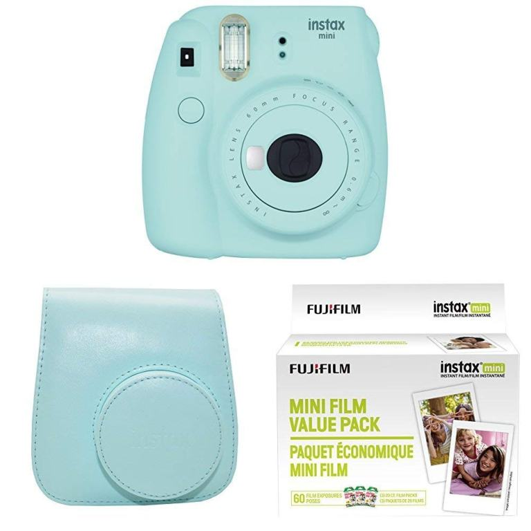 Fujifilm Instax Mini 9 Instant Camera - Ice Blue Bundle - Superior Digital News