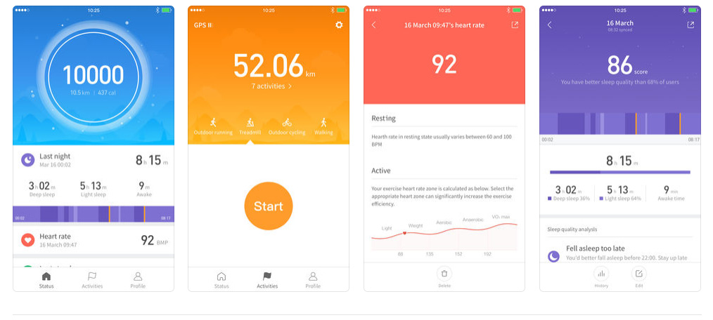 Superior Digital News - Amazfit Bip Smartwatch by Huami - Mi Fit Companion App Main Sections