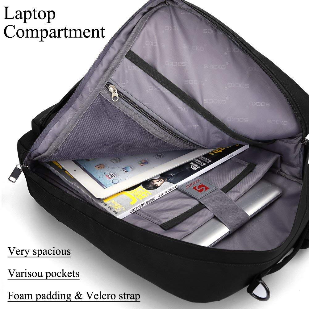 Superior Digital News - Socko 18.4 Inch Laptop Backpack with Side Handle and Shoulder Straps - Interior
