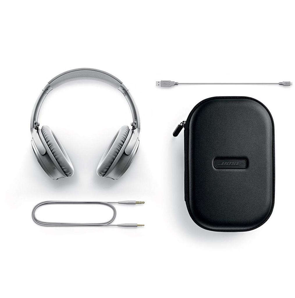 Superior Digital News - Bose QuietComfort 35 (Series II) Wireless Headphones - Silver - Travel Kit