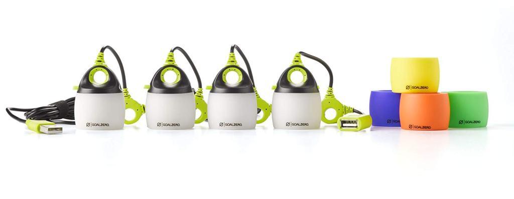 Superior Digital News - Goal Zero Light-A-Life Mini Quad Lantern with Standard and Muli-Colored Shades