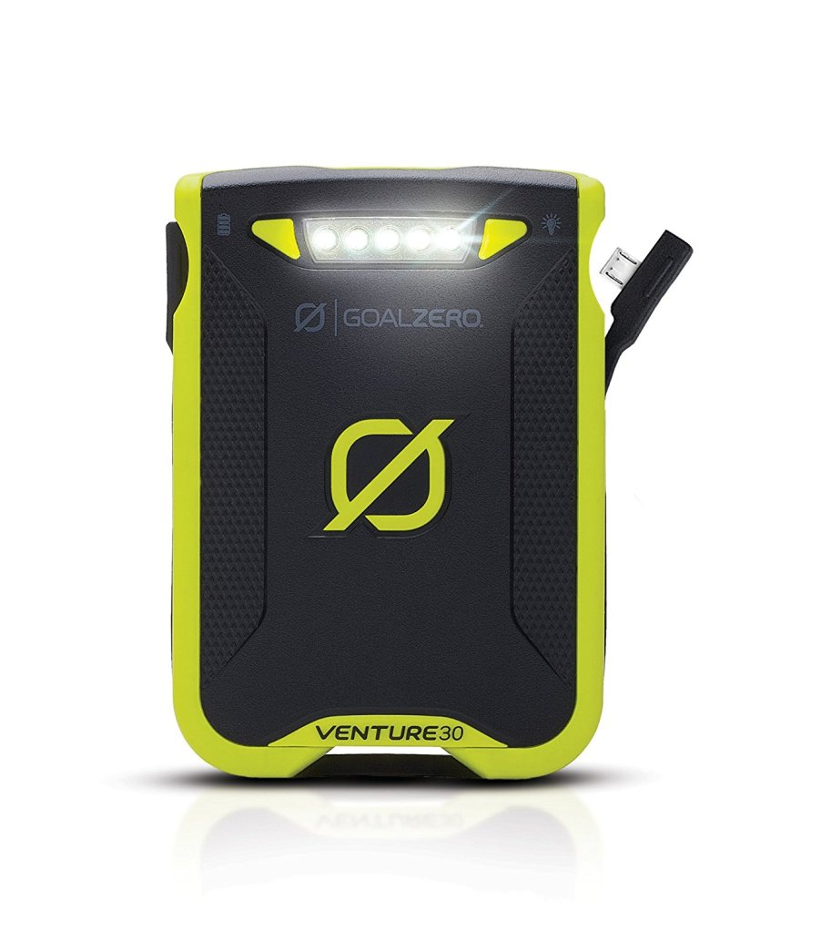 Superior Digital News - Goal Zero Venture 30 Portable Power Bank - Dual USB Output With Built-In Charging Cables - Adjustable Built-In Flood Light