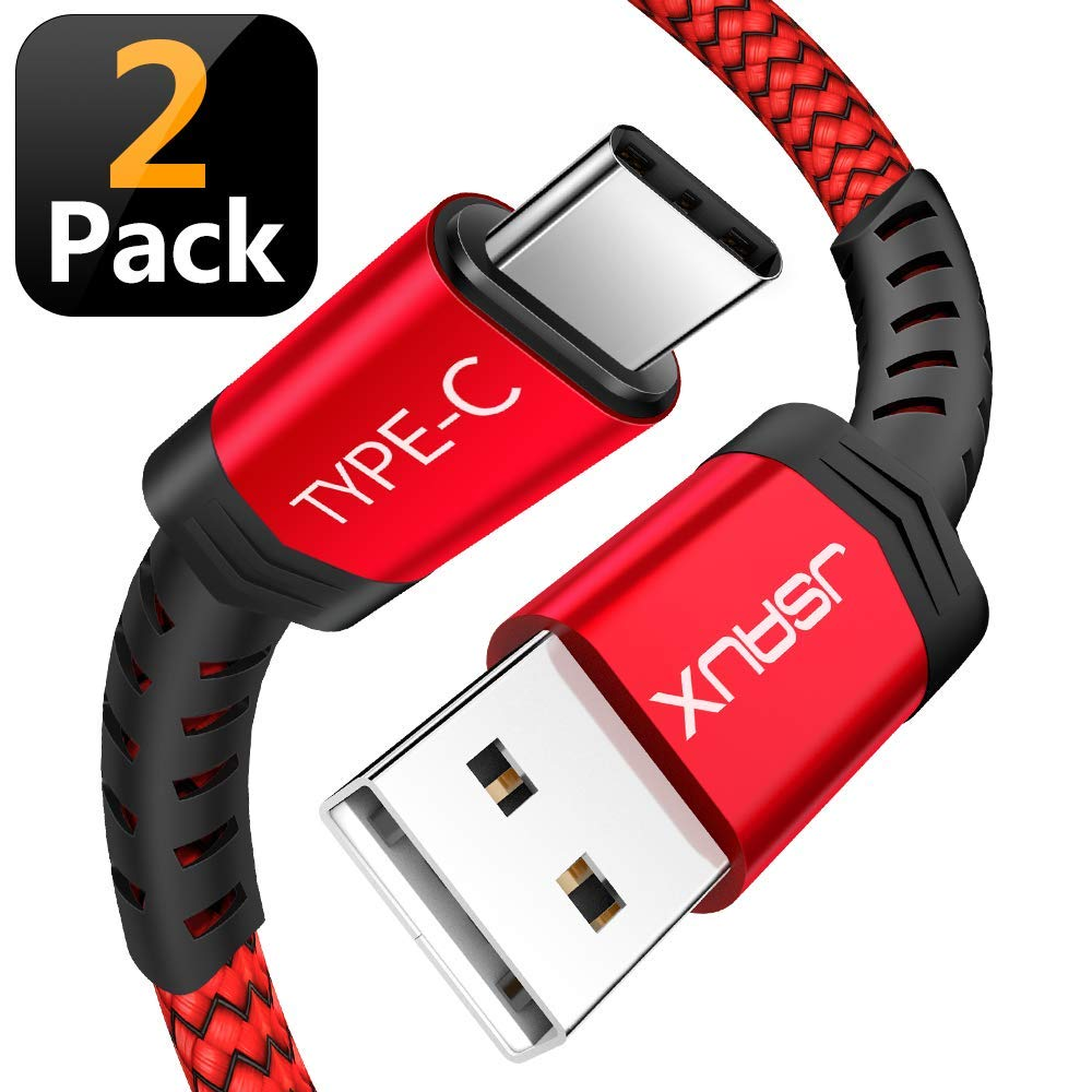 JSAUX USB-C Charge Cable 2-Pack – 6.6-Foot