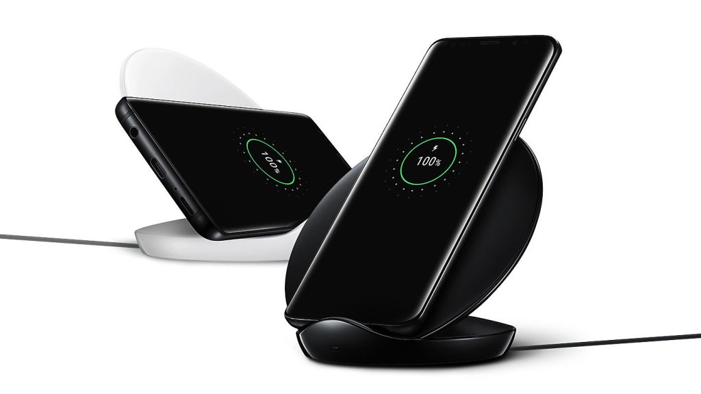 Superior Digital News - Samsung Qi Certified Fast Charge Wireless Charger Stand - Landscape or Portrait Mode