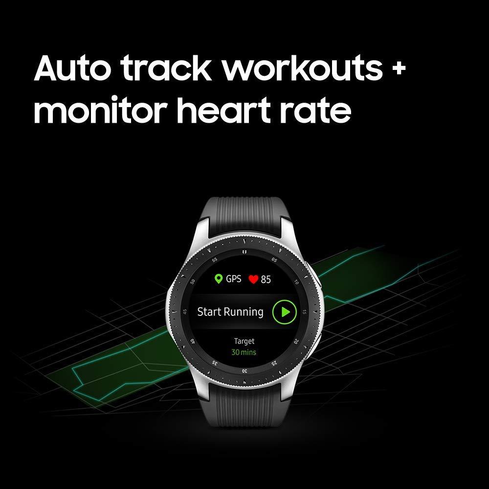 Superior Digital News - Samsung Galaxy Watch - Smartwatch - Sterling Silver (46mm) - Track Workouts