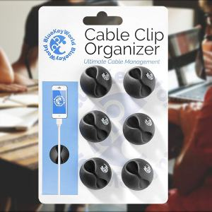 #1 Best Seller: BlueKey World Cable Clip Organizer