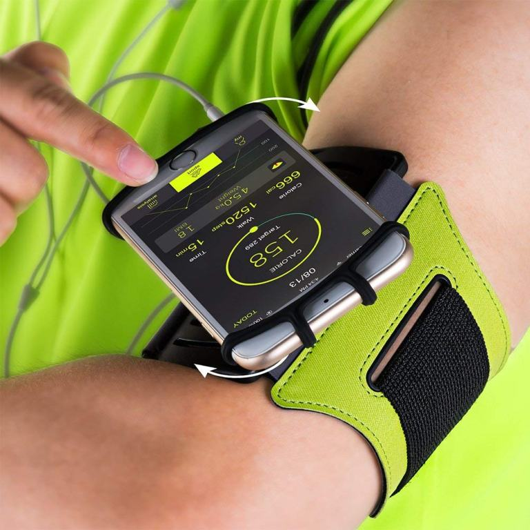 VUP Rotating Phone Armband for fitness and sports - Sport Green - Available At Amazon.com