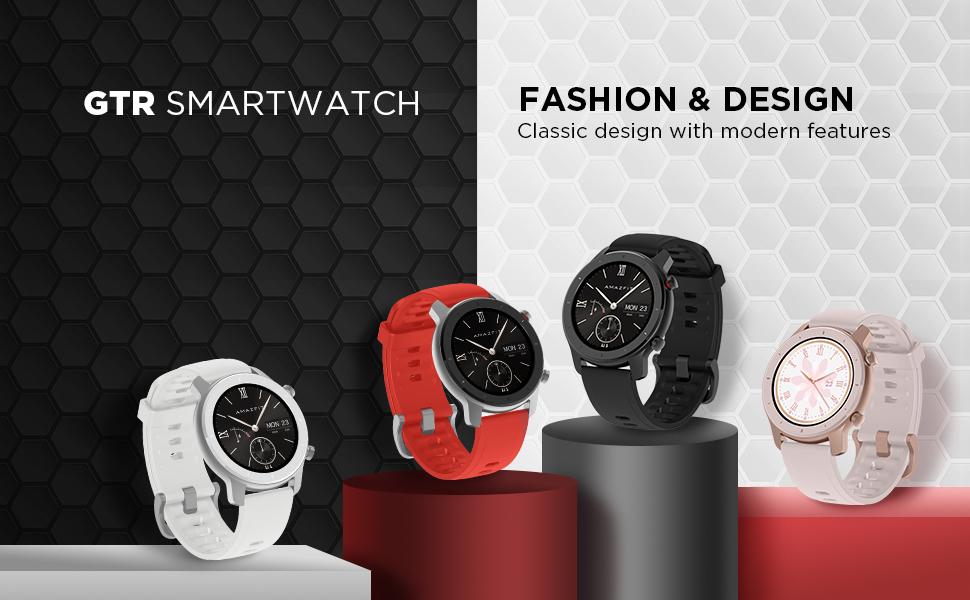 Amazfit GTR Smartwatch - 42mm Color Options