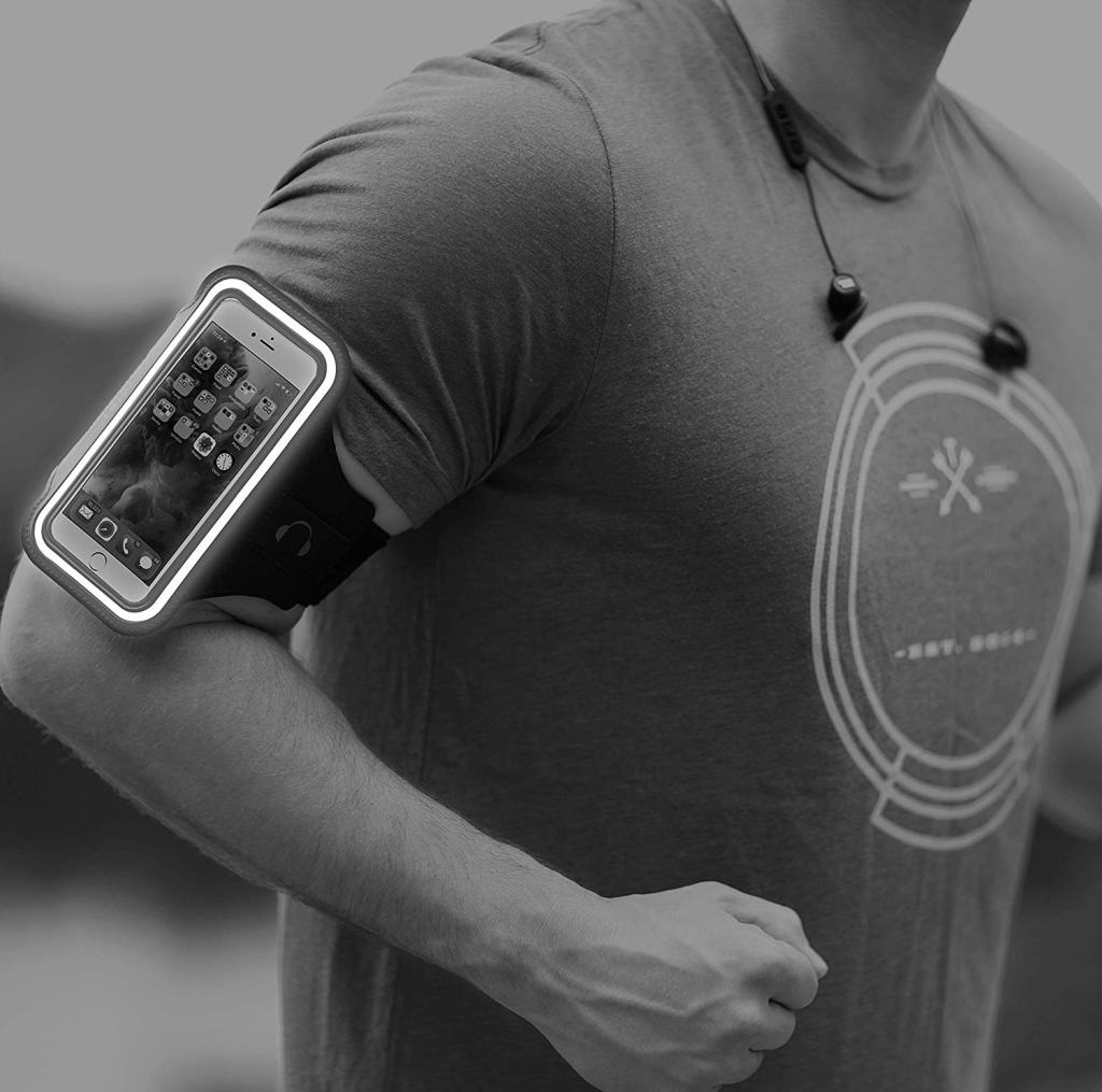 Tribe Armband Phone Holder - Reflective Safety Border Strip