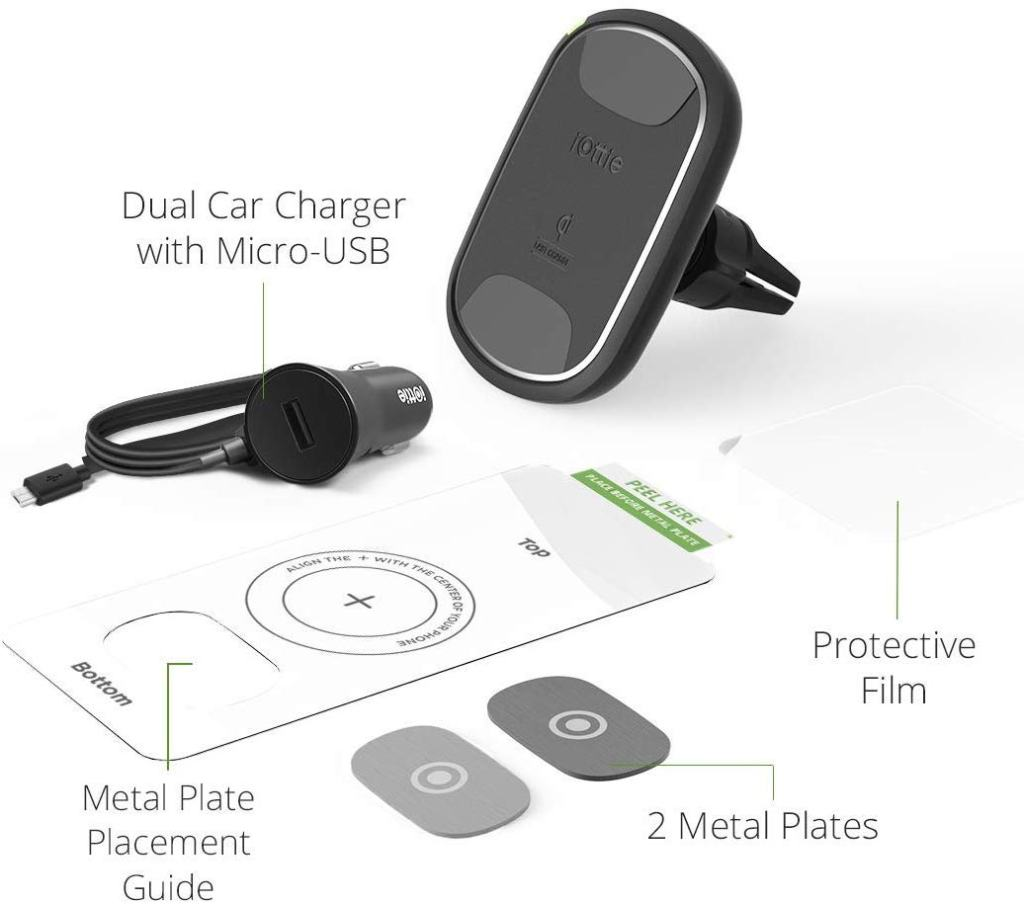 iOttie Magnetic Car Phone Mount & Wireless Charger Kit