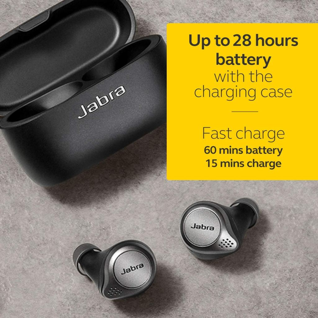 Jabra Elite 75t True Wireless Headphones - Battery Life