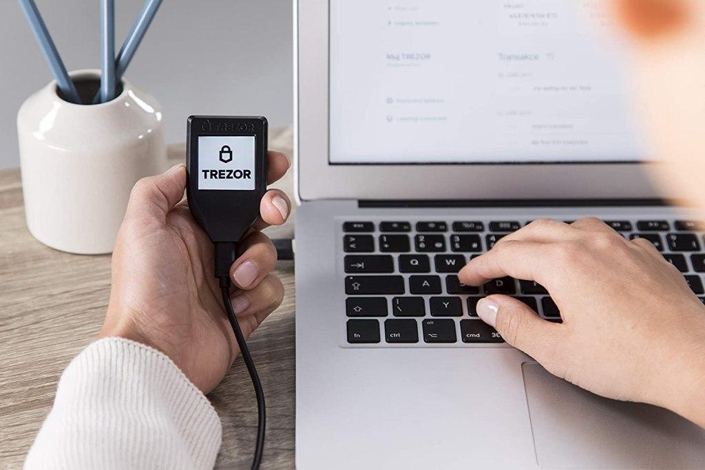 Trezor Model T Crypto Hardware Wallet - USB-C Connection
