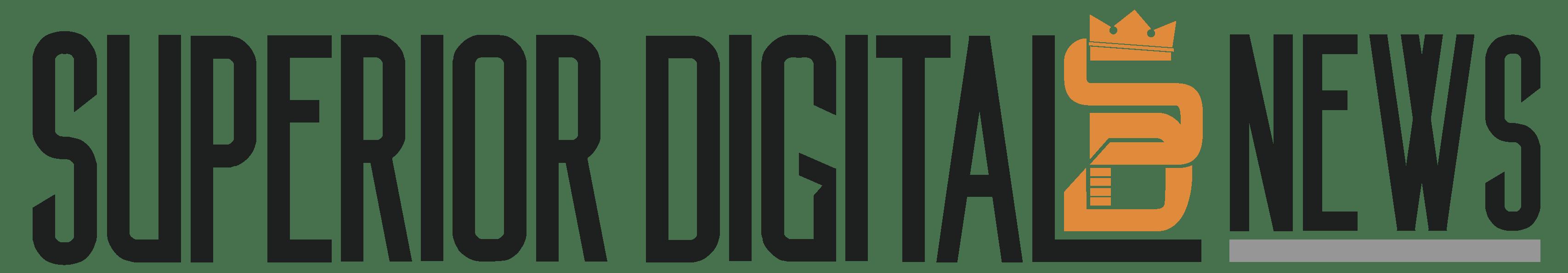 Superior Digital News Logo (Black and Orange)