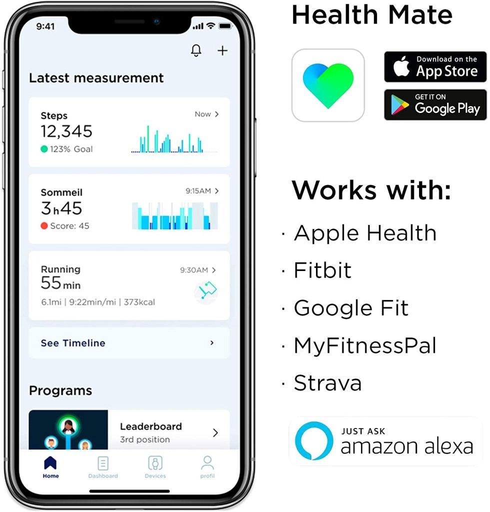 Withings Steel HR Sport - Health Mate App