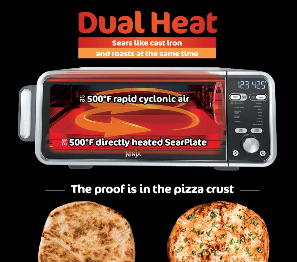 Ninja SP301 Foodi 13-in-1 Countertop Convection Oven - Dual Heat Technology
