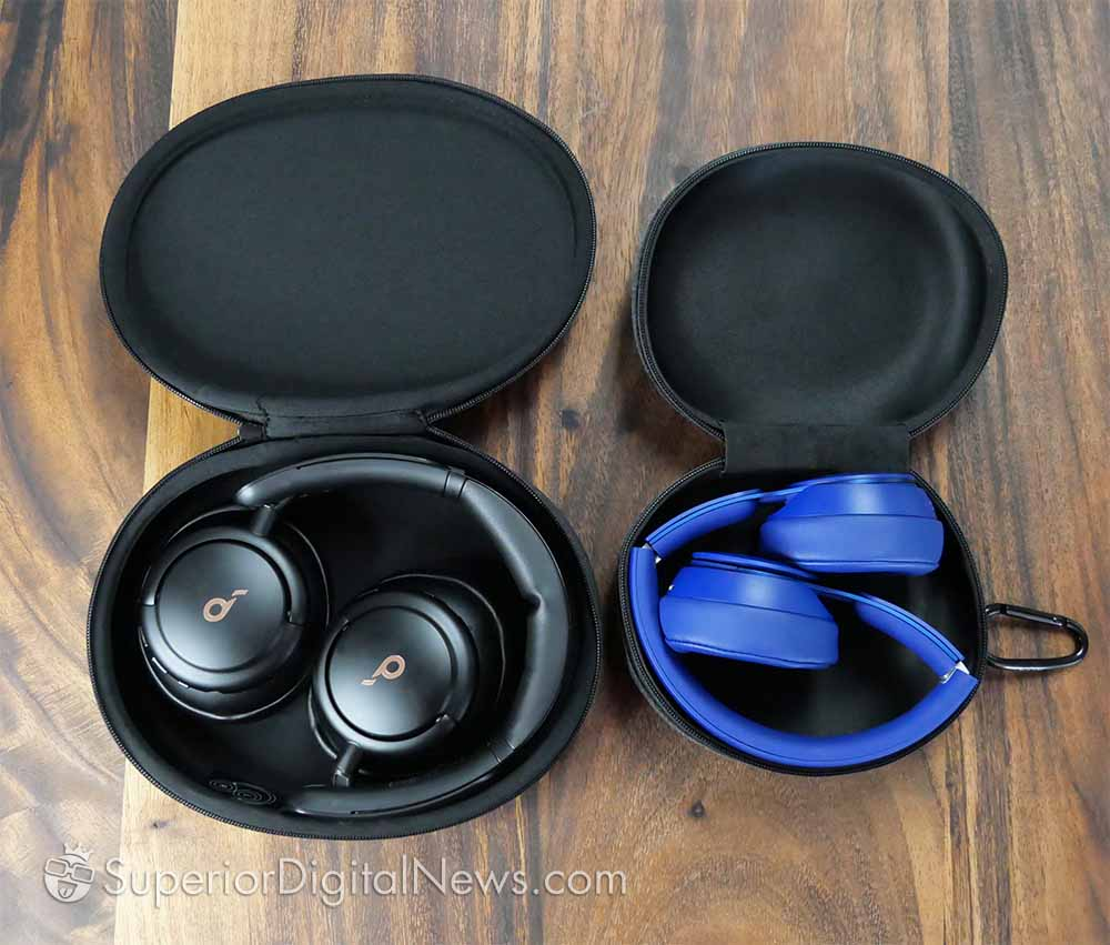 Anker Soundcore Life Q30 vs Beats Solo Pro - Folding Style and Travel Cases