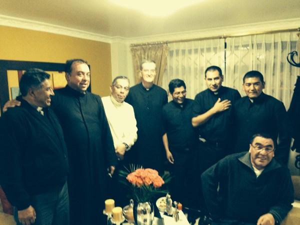 con el obispo de Loja, Mons. Alfredo J. Espinoza Mateus, SDB