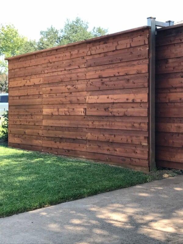 wood fence wood fence